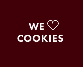 We love cookies text